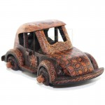 Z PLUS Batik Wood Christmas Gift Xmas Miniature Vintage Car Volkswagen Beetle
