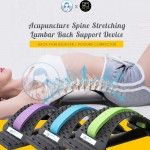 Dr C+ Acupuncture Lumbar Support Chiropractic Spine Stretching Back Pain Reliever Body Massage Posture Alignment Corrector