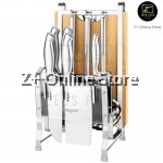Z PLUS Set of 13 Bayco Knife Set Combo Chopping Board Stainless Steel Knife Block Rack