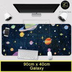 Z PLUS [80cm x30cm] [90cm x40cm] Large Gaming Thickened Desktop Laptop Keyboard Mouse Pad (Galaxy)