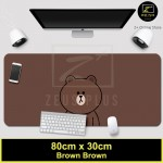 Z PLUS Line Cartoon Large Gaming Thickened Desktop Laptop Keyboard Mouse Pad (BR BR)