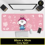Z PLUS Line Cartoon Large Gaming Thickened Desktop Laptop Keyboard Mouse Pad-Conysport