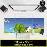 Z PLUS Line Cartoon Large Gaming Thickened Desktop Laptop Keyboard Mouse Pad(BRHugCony)