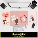 Z PLUS Line Cartoon Large Gaming Thickened Desktop Laptop Keyboard Mouse Pad(LoveYou)