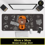 Z PLUS Line Cartoon Large Gaming Thickened Desktop Laptop Keyboard Mouse Pad(BRORShirt)