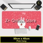Z PLUS Line Cartoon Large Gaming Thickened Desktop Laptop Keyboard Mouse Pad(PinkCony)