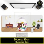 Z PLUS Line Cartoon Large Gaming Thickened Desktop Laptop Keyboard Mouse Pad(Surprise)
