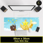 Z PLUS Line Cartoon Large Gaming Thickened Desktop Laptop Keyboard Mouse Pad(DateStar)