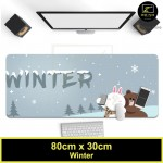 Z PLUS Line Cartoon Large Gaming Thickened Desktop Laptop Keyboard Mouse Pad (Winter)