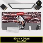 Z PLUS Large Gaming Thickened Desktop Keyboard Mouse Pad Laptop Accessory(BW)