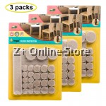 3 Sets of 38 pcs Adhesive Felt Pad Floor Protector