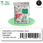 [Malaysia Brand] Pan-Mate Pure Cotton Ball Cotton Puffs 60's (single pack)