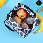 Z PLUS Tote Bag Heat Insulated Canvas Lunch Bag Picnic Bento Lunch Box Thermal Bag
