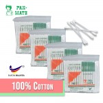 [Malaysia Brand] 160's/Pack Pan-Mate 100% Pure Cotton Buds Cotton Bud 棉花棒 Disposable Cotton Swabs Cotton Tipped For Beauty Makeup Nose Ears Cleaning