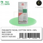 [Malaysia Brand] Pan-Mate Facial Cotton for Sensitive Skin 160'S + EXTRA 30%