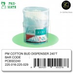 [Malaysia Brand] Pan-Mate 100 % Pure Cotton Buds Dispenser (240 tips)
