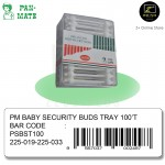 [Malaysia Brand] Pan-Mate Baby Security Buds Cotton Buds Tray (100 tips)