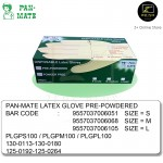 [Malaysia Brand] Pan-Mate 100 pcs Latex Disposable Gloves Pre-Powdered S/M/L