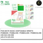 6 pcs Pan-Mate Non-woven Travel Disposable Briefs [Malaysia Brand] [M/L/XL/XXL]