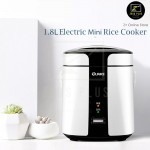 Z PLUS 1.8L Portable Non Stick Electric Mini Double Layer Rice Cooker Pot Egg Steam