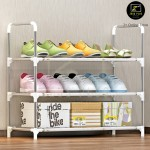 Z PLUS SEN Multiple Tiers Stainless Steel Shoes Rack Shoe Shelf Stackable Storage Organiser