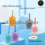Z PLUS Mini Silicon Soft Portable Quick Dry Towel Travel Swim Camp Gym Outdoor Sports Exercise