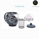 Z PLUS Light Glass Teapot Tea Pot Heat Resistant Removable Stainless Steel Infuser Strainer Filter