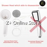 Z PLUS 300 holes Self Button High Pressure Boosting Shower Head Stainless Steel Water Saving