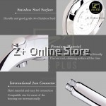 Z PLUS 300 Holes High Pressure Self Button Water Volume Control Shower Head Stainless Steel SUS304 Water Saving