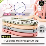 Z PLUS 3 Size Portable Adjustable Extendable Foldable Travel Hanger Clothes Pants