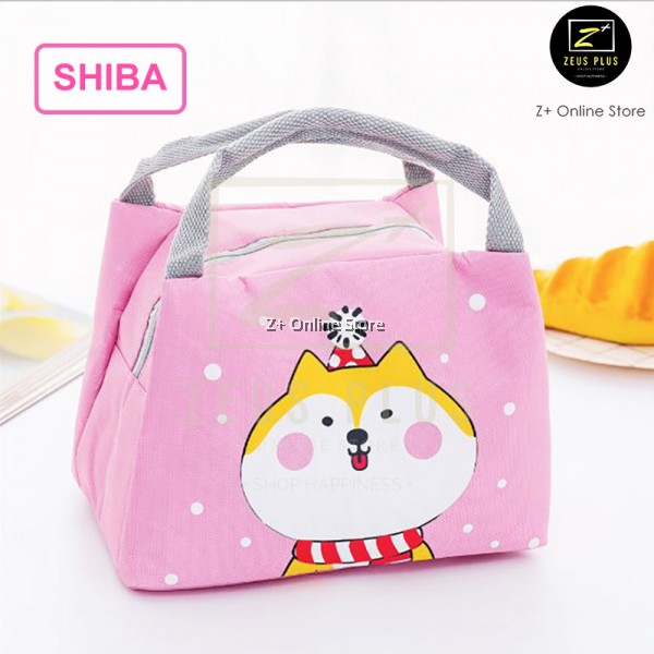 Z PLUS Japanese Heat Insulation Canvas Lunch Bag Picnic Lunch Box Storage Thermal Bag