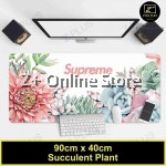 Z PLUS Large Gaming Thicken Desktop Keyboard Mouse Pad Laptop Accessory(Succulent Plant)