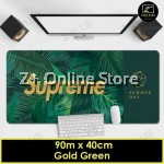 Large Gaming Thicken Desktop Keyboard Mouse Pad Laptop Accessory(Gold Green)