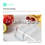 Grater Set of 2 Rectangle Microwave Heat Resistant Glass Container Food Storage Glassware Lunch Box Bag Cutlery Customised Chain