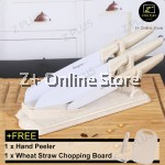 Z PLUS Set of 6 Stainless Steel Anti Rust Kitchen Knife Set Cut Slice Foldable Holder Stand