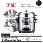 3L 6L Classy Stainless Steel 304 Electric Rice Cooker Keep Warm Double Layer Pot Steam Tray