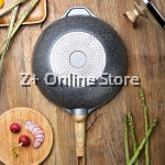 Germany Maifan Stone Non stick Cooking Pot Fry Pan Wok Standable Lid Cover Handle (30cm)