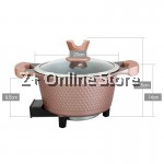 2L Multi Function Electric Cooker Pot Non Stick Germany Maifan Stone Coating Fry Cook Stew Boil Soup (20cm)