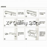 [Stock Clearance] Kitchen Wall Aluminium Cutlery Jar Container Towel Knife Key Space Saving Organizer Rack Shelf Hook