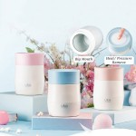 500ml High Borosilicate Glass Food Storage Keep Warm Cold Airtight Lazy Cook Stew Thermos Flask Pot Container Corporate Event Logo
