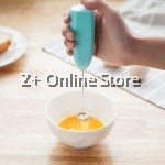 Mini Electric Handle Egg Beater Mixer Coffee Cappuccino Foam Maker Milk Frother (Brown)