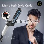 New M Styler Men's Ceramic Hair Styling Curl Iron Comb Straightener 220V Anti Scald Heat Plate