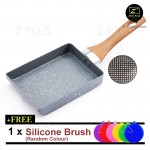 Maifan Stone Coating Non stick Aluminium Cooking Pot Japanese Tamago Frying Pan Flat Bottom