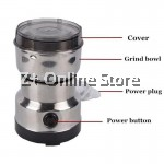 Stainless Steel Electric Coffee Bean Mixer Nut Cereal Rice Grinder Blender Razor Cutter Blade Mince Meat