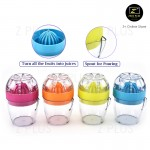 Portable Handheld Mini Lime Lemon Orange Juicer Fresh Fruit Juice Squeezer Extractor Spout Filter Healthy Lifestyle