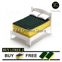 3pcs Double sided Sponge Kitchen Dishwasher Scouring Pot Pan Wok Washing Cleaning Nano Sponge Pad Bed Decoration