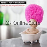 3pcs Stainless Steel Big Wire Dishwash Ball Kitchen Wok Iron Pan Washing Cleaning Brush Decoration