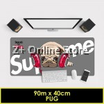 Supreme Large Gaming Thickened Desktop Keyboard Mouse Pad Laptop Accessory Comfort Gamer Office Worker (Pug)