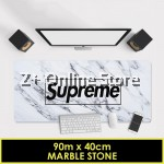 Supreme Large Gaming Thickened Desktop Keyboard Mouse Pad Laptop Accessory Comfort Gamer Office Worker (Marble Stone)