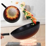 Korean Maifan Stone Coating Non stick Cooking Pot Fry Pan Wok Handle Stove Induction Frying Pan (33cm)
